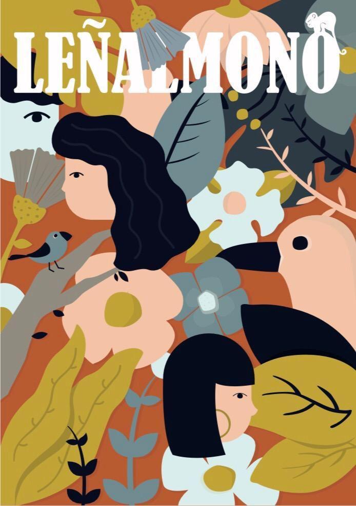 "Portada del nº16 de Leñalmono titulada ""Lluvia fina"" de Landero"