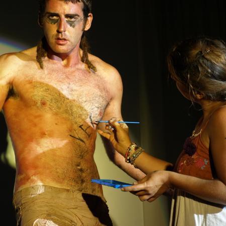 Performance Mímesis del genoma humano Manuel Pereda pulsion del Eros